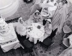 """Princess Grace with her bridesmaids at her wedding day. Photo by Howell Conant. """""""
