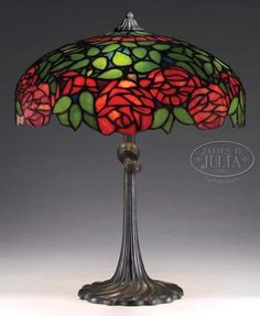 A Reference source for Antique stained glass leaded lamps. Original examples of the best lamps from the best lamp makers including Tiffany Studios, Duffner & Kimberly, Handel, Suess, Chicago Mosaic and many more. Glass Lamp Shade, Lamp, Stained Glass Rose, Ceiling Lamp Shades, Creative Lamp Shades, Repurposed Lamp, Stained Glass Lamps, Vintage Lamps, Modern Lamp Shades