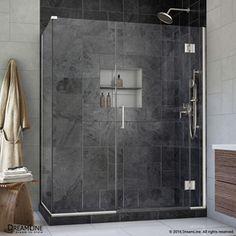 Dreamline Unidoor-X 45.5-In To 45.5-In Frameless Hinged Shower Door E1