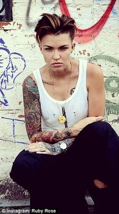 Pin By Mrs Gansowski On Sexy Pinterest Ruby Rose Rose And - Undercut hairstyle ruby rose