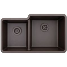 Lexicon Platinum Offset Double Bowl Quartz Composite 32 x 19 x 7-1/2 / 9 in. D Kitchen Sink (White)