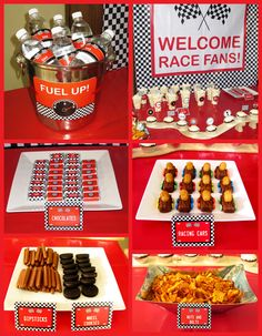 Race Car Party – Sam's Birthday Race Cars Birthday Party Food Table Birthday Party Snacks, 2 Birthday, Race Car Birthday, Cars Birthday Parties, Snacks Für Party, Birthday Ideas, Birthday Games, Party Games, Car Snacks