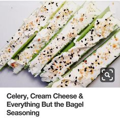Celery, Cream Cheese & Everything But the Bagel Seasoning - easy and healthy snack. a change up from celery and peanut butter. Desserts Keto, Keto Snacks, Healthy Snacks, Healthy Eating, Diy Snacks, Atkins Snacks, Low Carb Recipes, Diet Recipes, Snack Recipes