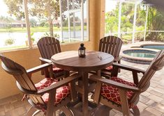 Garden Rose Amish Poly Wood Round Patio Bar Table