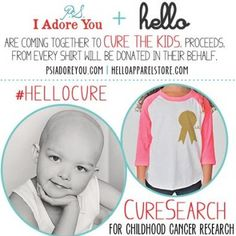 Darling shirt.  Amazing cause.  Pin it on!