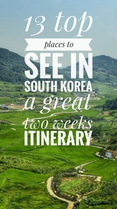 Two weeks itinerary to visit the best of South Korea Travel off-the-beaten-path see all the best destinations in South Korea #southkorea #itinerary #overland #overlanding #roadtrip #bicycletouring #bicycletravel #worldbybike #cycling #cicloturismo #bikepacking #slowtravel #offthebeatenpath #travel #onabudget #budgetholidays