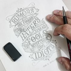 """877 Likes, 11 Comments - Abed Azarya & Team (@abedazarya) on Instagram: """"Done with the sketch. Dedicated to the fools and idiots. #sketch #lettering #typography…"""""""