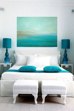 Magnificent 25 beach house interior design ideas perfect for your summer home. The post 25 beach house interior design ideas perfect for your summer home…. appeared first on . Coastal Bedrooms, Coastal Living, Coastal Decor, Coastal Cottage, Coastal Style, Nautical Style, Aqua Bedrooms, Coastal Interior, Coastal Colors