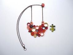 Paper Quilling Necklace, Geometric Necklace, Quilling Jewelry, Circles Necklace…