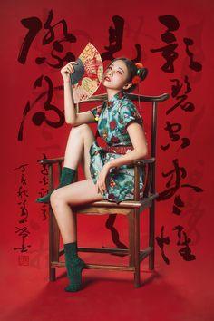 国潮|摄影|人像|沐夜muye - 原创作品 - 站酷 (ZCOOL) Human Poses Reference, Pose Reference Photo, Body Reference, Poses References, Dynamic Poses, Body Poses, Oriental Fashion, Fashion Poses, Drawing Poses
