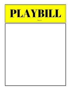 debut ideas Simple Playbill Template in .pdf formatStudents will need to create their theater name and add it as well!Please leave feedback! Broadway Theme, Debut Ideas, Drama Class, Senior Gifts, Bet Awards, Cozy Mysteries, Words To Describe, Musical Theatre