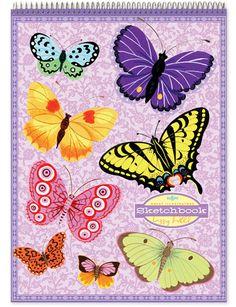 Butterfly Sketchbook by eeBoo