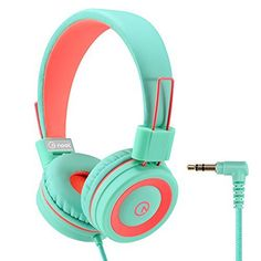 Kids Headphones - noot products K11 Foldable Stereo Tangle-Free 3.5mm Jack Wired Cord On-Ear Headset for Children / Boys / Girls / iPad / School / Kindle / Airplane / Plane / Tablet