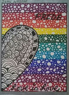 Artist Trading Card #2 Pride card. Front side. By ~Sami~