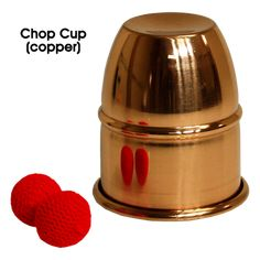 Chop Cup (Copper) by Premium Magic - Chop Cup routines are performed with one cup and the mechanical construction of the cup allows one to perform varied effects, visual penetrations, productions, and vanishes of a ball from under the cup in a simpler yet very effective way. Contents One Gimmicked Spun Metal Cup Two Red Crocheted get it here: http://www.wizardhq.com/servlet/the-17846/chop-cup-copper-by-premium-magic/Detail?source=pintrest