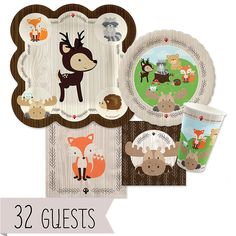 Woodland Creatures - Baby Shower 32 Big Dot Bundle | BigDotOfHappiness.com
