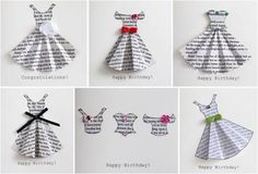 Inspirational ideas and how-to-tutorials for book page craft projects. You'll find DIY tips on cardmaking, canvas decorating, rose embellishments, up-cycling old bottles and gift wrap envelopes.