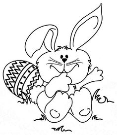 Free Easter Coloring Pages Bunny