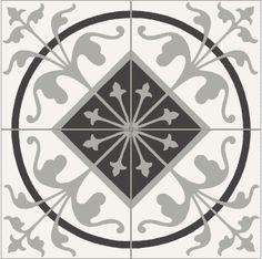 carreaux ciment 20x20cm baroque noir blanc et gris d cors tapis carrelages du marais comme un. Black Bedroom Furniture Sets. Home Design Ideas