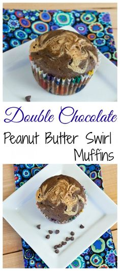 ... chocolate peanut butter swirl muffins soft and tender double chocolate