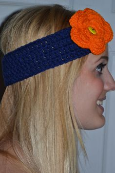 Womens Crochet Florida Gators Colors Headband on Etsy, $6.00