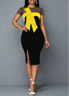 Cheap xxl sheath Dresses online for sale Side Slit Dress, Tie Front Dress, Latest African Fashion Dresses, Women's Fashion Dresses, Elegant Dresses, Nice Dresses, Pink High Low Dress, Plus Zise, Necklines For Dresses