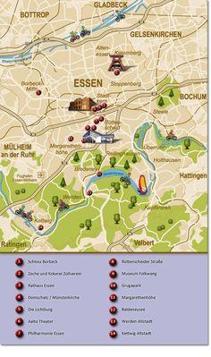 Maps of Essen, Germany