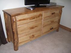 Hand Crafted Aspen Log Dressers By Alpine Furniture Company | CustomMade.com