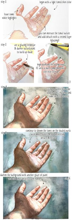 32 Ideas Skin Painting Tutorial Watercolor For 2019 Watercolor Skin Tones, Watercolor Tips, Watercolour Tutorials, Watercolor Techniques, Drawing Tutorials, Painting Tutorials, Watercolor Pencils, Art Techniques, Colorful Drawings