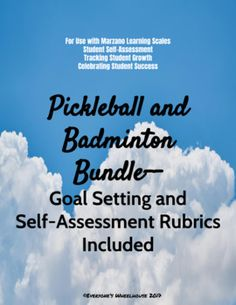 Badminton Unit and Pickleball Unit Bundle Physical Education Lesson Plans, Pe Ideas, Learning Goals, Student Success, Self Assessment, Teacher Tools, Badminton, Teaching Tips, The Unit