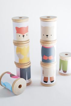 Play animal dress-up with these super fun and easy-to-make DIY mix 'em up animal spools!°°