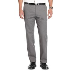 Men's IZOD American Chino Straight-Fit Wrinkle-Free Flat-Front Pants, Size: