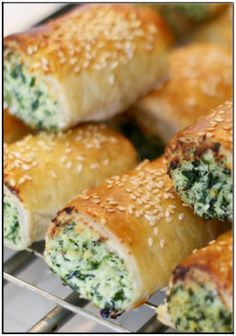 Gluten free spinach and cheese rolls