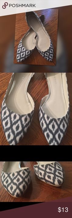 Geometric Print D'orsay Ballet Flats ⬇️Final Price Geometric print ballet flats. Open side design and comfortable flat heel. In good like new condition, only worn 2 times. Metaphor Shoes Flats & Loafers