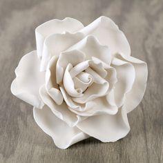 White Gumpaste Gardenia Sugarflower edible cake decoration perfect for cake decorating fondant cakes & wedding cakes.   CaljavaOnline.com