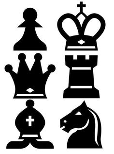 Chess Set Of 6 Stickers Wall Decal Decorating Game Room Family Custom Colors Nursery Room Decor, Boys Room Decor, Chess Tattoo, Game Room Kids, Medieval Party, Kitchen Wall Decals, Black White Tattoos, Vinyl Wall Quotes, Chess Pieces