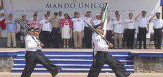 El gobernador Javier Duarte de Ochoa instaló el Mando Único Policial, este jueves en el municipio de Medellín de Bravo, para garantizar la tranquilidad y la convivencia armónica de sus habitantes.