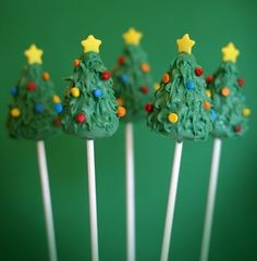 These are so easy to make and all you really need are toothpicks, candy melts and small colored candies :)
