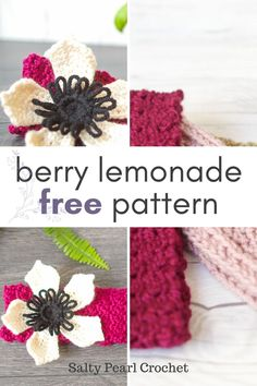 This pretty headband pattern uses the lemon peel stitch and the berry stitch for a gorgeous but easy crochet headband. You can get the free pattern from Salty Pearl Crochet. Even better? You can easily customize it to any size! Easy Crochet Headbands, Crochet Headband Pattern, Crochet Patterns, Design Your Own Dress, Pattern Drafting, Pattern Making, Pattern Fashion, Free Crochet, Berry