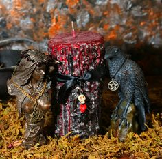 The Morrigan Dark Goddess Ritual Candle Candle was inspired by the Great Queen…