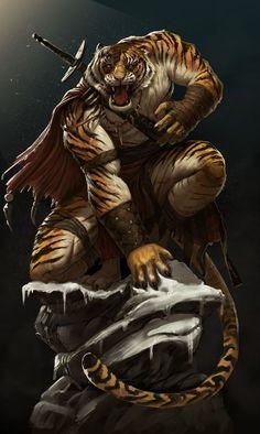 Big Cats Art, Furry Art, Cat Art, Dark Fantasy Art, Fantasy Artwork, Fantasy Character Design, Character Art, Tiger Artwork, Werewolf Art
