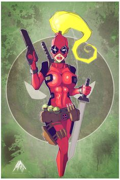 (Lady Deadpool) By: Rodneybarryart… Heros Comics, Marvel Heroes, Marvel Comics, Lady Deadpool, Comic Book Characters, Comic Character, Female Characters, Rogue And Wolverine, Wade Wilson