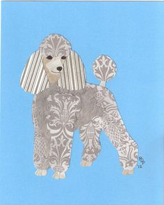 Toy Poodle by Patricia Peters cut paper ADORE this!
