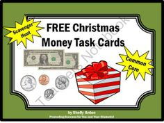 FREE Christmas Math Money Task Cards Game from Promoting Success on TeachersNotebook.com (6 pages)  - FREE Christmas Activities: Here are 6 fun Christmas math task cards for students to practice counting money! You will also receive a student response form and answer key.   There are so many uses for these Christmas task cards, including: Christmas math c