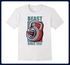 Mens Sports Gym 1957 60th Beast Workout Birthday Gift T Shirt Small White - Sports shirts (*Amazon Partner-Link)