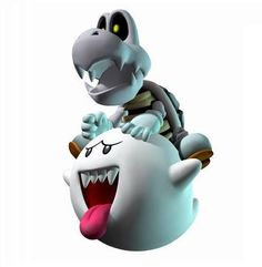 Dry Yoshi and Boo (Mario kart wii) Mario And Luigi, Mario Kart, Dry Bones Mario, Mario Party 7, Mario Crafts, King Boo, Medvedeva, Sonic, Nintendo Characters