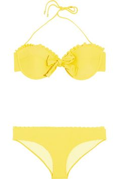 Say YELLOW with #MiuMiu #Swimsuit
