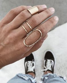 gold layered rings + jewelry