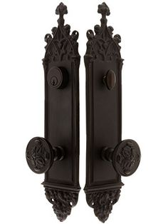 Gothic Door Entry Lock Set - admit it its awesome.  10 years ago this would have been on my bedroom door in a heart beat.