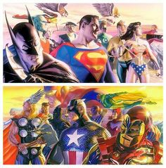 Justice League Vs Avengers ,Alex Ross